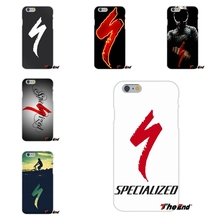 Specialized Bikes bicycle Race team Soft Silica Gel TPU Case Silicone Cover For iPhone 4 4S 5 5S 5C SE 6 6S 7 Plus