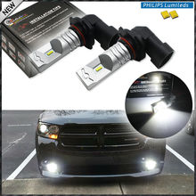2pcs 6000K Xenon White Powered By Philips Luxen LED 9006 HB4 9012  Bulbs For car High Beam/Daytime Running Lights/Fog Lamps