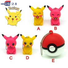 Crazy hot Pokemon Model usb flash drive Pocket Monster/Poke Ball/ Pikachu pen drive u disk memory stick fashion gift 4GB-32GB