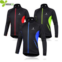 WOSAWE Men Fleece Thermal Winter Wind Cycling Jacket Windproof Bike Bicycle Coat Clothing Long Sleeve Jerseys - Wesports Store store