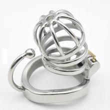 Buy Hot New Stainless Steel Male Chastity Devices Cock Cage Penis Ring Urethral Sound Catheter Ring Penis Lock Sex Toys