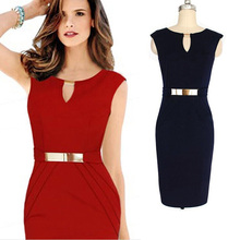 New Arrival Fashion Sexy Slim Dress Red And Black Body Suit Sexy Women Party Dress 2017 Club-Wear Sleeveless Dress(China)