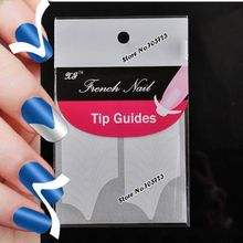 2 Packs Large V Design French Nails Tips Guide Sticker Tape Manicure French Nail Tool N03