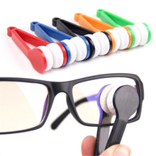 1pcs hot sales Useful Nice Mini Sun Glasses Eyeglass Colorful Microfiber Cleaner Brush