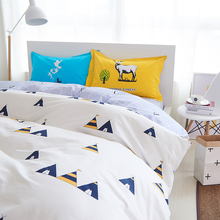 home goods comforter sets blue bed linen duvet cover set 100 cotton king duvet queen twin size edredones nordicos cama