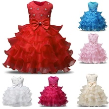 Children's Dress Girl Dress Kids Ruffles Lace Dresses for Girls Princess Tutu Dress for Wedding Party Events Wear Girls(China)