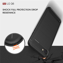 "For LG Q6 5.5"" case Carbon Fiber Soft TPU Drawing Phone Case Back Cover For LG Alpha Q6 Q6A M700 Slim Armor Soft Silicone Bag(China)"