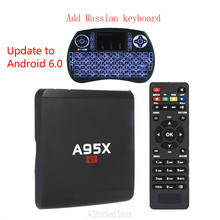 A95X R1 Android 6.0 TV Box 1/8GB with Spainish keyboard Rockchip RK3229 Quad Core 4K TV Tuner PK V88 Mini A95x A1(China)