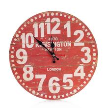 D3 Vintage Style Non-Ticking Silent Antique Wood Wall Clock for Home Kitchen Office jun29