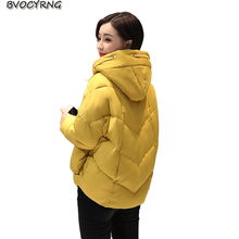 New Winter Eiderdown Cotton Short Women Coat Parka Female Han Edition Loose Hooded Jacket Warm Jacket Fashion Outerwear Q813