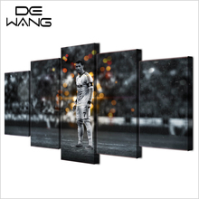 5 Panel Canvas Printed Mr football Painting For Living Room Picture Wall Art Decor Modern Artwork Sports Poster Drop Ship