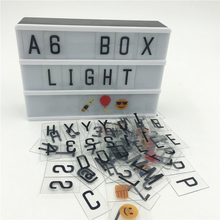 Discount Sales A6 Led Cinema Lightbox DIY 90PCS Signs Home Table Decoration Lighting Power By AA Battery Or DC6V USB Cable