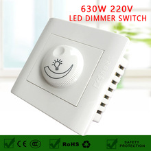 control switch Silicon Controlled Rectifier(SCR) Dimmer Switch Max 630W 200-250V LED Dimmer Light Switch for Dimmable LED Bulbs