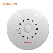 Fire Smoke Detector and Heat Temperature Sensor Alarm 2 in 1 Combination Detector Wired 12V for House Safety(Hong Kong)