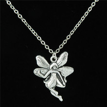 C18X47  Free shipping Silver Cute Butterfly Angel Fairy Pendant Chain Choker Collar Necklace 18""