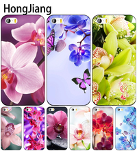HongJiang Desktop wallpapers free orchids cell phone Cover case for iphone 6 4 4s 5 5s SE 5c 6 6s 7 8 plus case for iphone 7 X(China)