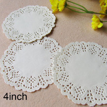 100 Pcs 4inch 10cm White Round Lace Paper Doilies / Doyleys,Vintage Coasters / Placemat Craft Wedding Christmas Table Decoration(China)