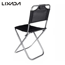 Aluminum Oxford Cloth Fishing Chair Portable Folding Chair Multifunctional for Outdoor Fishing Camping with Backrest Carry Bag