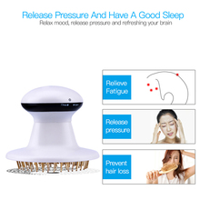 Double far infrared heating light electric Head massager gold needle scalp vibration massage relieve stress insomnia claw device