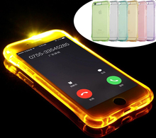 2016 Fashion New Soft TPU LED Flash Light Up Case Remind Incoming Call Cover For iPhone 7 7 Plus 5 5S 6 6S Plus 7Plus Case