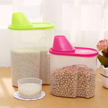Simple life kitchen storage box sealed cans food container storage bottles cereals plastic box jars for storage cooking tools(China)