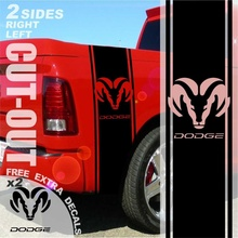 Car Styling for 1500 2500 3500 Truck Bed Side Stripes For Dodge Ram Decals Sticker Graphics 004C