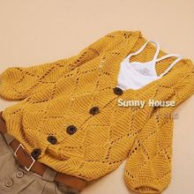 In the autumn of 2016 new women's Korean loose hollowing V collar all-match sweet short small cardigan jacket sweater