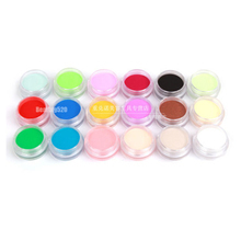 18 Colors 3D Nail Art DIY Sculpture Carving Acrylic Powder Tips Set Use With Acrylic Liquid