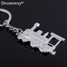 Locomotive keychain metal railway engine key chains train head key ring holder personality trinket gift novelty items(China)