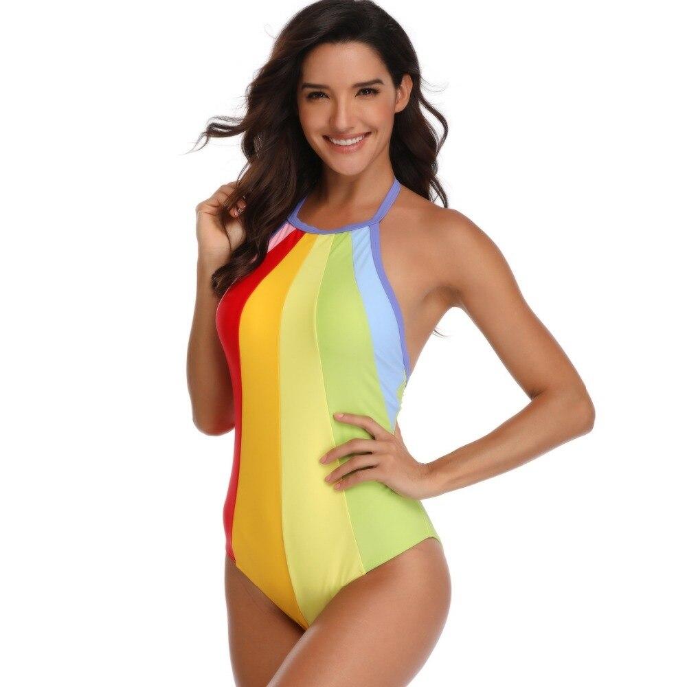 Ladies High Cut Vintage One Piece Swimsuit 1 PC