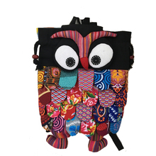 Women's Owl Pattern Bags High Quality Animal Shape Unique Pattern Women Brand Designer Handmade Backpacks Children bag Beach bag
