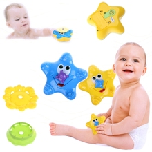 Starfish Pattern Baby Sassy Toys Kawaii Kids Children Bathing Water Bath Toy Cute Swimming Funny Bath Toys-M15(China)