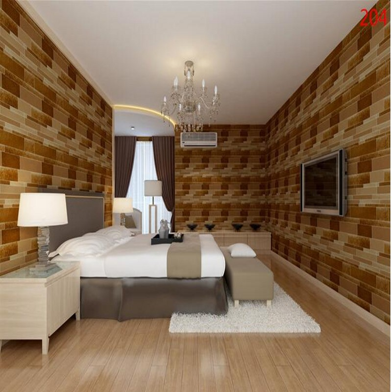 beibehang High-grade leather sofa teasel stereo abstract bedroom bedside TV backdrop wallpaper bar package papel de parede<br>