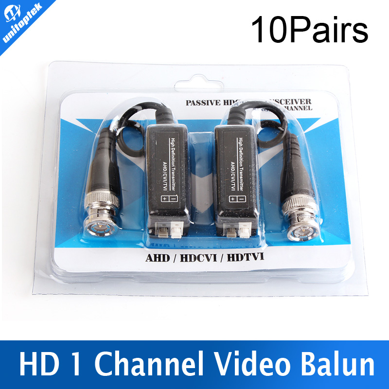 10PairsHigh Definition 720P/1080P AHD/HDCVI/HDTVI BNC to UTP Cat5/5e/6 Video Balun Passive Transceivers Adapter Transmitter 300m<br><br>Aliexpress