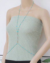 Super Flash personality nightclub ladies accessories, even the body, the body beaded chain, necklace free shipping(China)