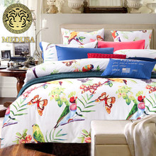 2016 vintage cotton bed linen king queen size duvet/doona cover bed sheet pillow cases 4pcs bedding set/white(China)