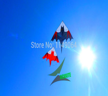 free shipping high quality 2.5m large bat kite with handle line outdoor toys delta kite flying rainbow led big kite wheel hcx(China)