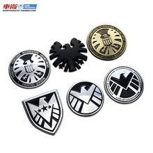 Marvel Agents of SHIELD Avengers Superman Batman Ironman 3D 100% Metal Car Auto Motorcycle Badge Emblem Sticker SUV Car-Styling