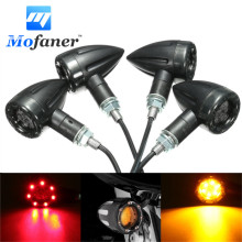 4pcs Universal Motorcycle LED Turn Signal Indicators light Brake Rear Running Lamp