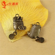 24*11MM Antique Bronze cookies charm pendant bead barrel national retro jewelry DIY jewelry wholesale, biscuit charm, food charm