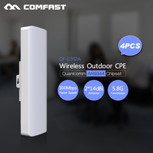 4pc,COMFAST wireless outdoor CPE long range wifi router  5ghz access point for ip camera outdoor amplifier Range extend