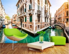 Custom photo 3d wall murals wallpaper The city of Venice canal decor painting picture wallpapers for walls 3 d living room