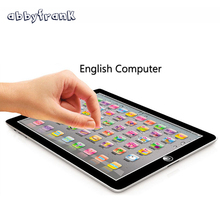 Abbyfrank English Learning Machine Change English Language Kid Laptop Children Tablet Education Toy for Baby Learning Education