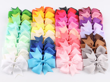 40pcs 40colors Girls Ribbon Bow Clips Girl Hairpins Alligator Metal Hair Bows Clip Headwear Girl Hairbows Hair Accessories