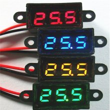 Waterproof 0.28 DC 3.5-30V Mini Digital LED Voltmeter Volt Meter F 12V Car Moto(China)