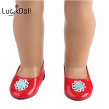 Best gift for children, the United States doll 18 inch red shoes, the United States doll accessories b463