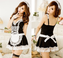 Buy 2018 New Sexy Lingerie Sexy Underwear Lovely Female Maid Lace Sexy Miniskirt Lolita Maid Outfit Sexy Costume Sex Products