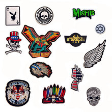 1 PC Punk Skull Cloth Patch Embroidered Backpack Decoration Badges  Cloth Patches for Clothing Parches Bordados