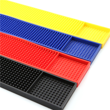 1Pcs  Rectangle Rubber Beer Bar Service Spill Mat for table black waterproof pvc mat kitchen glass coaster placemat