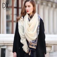 Wool Ladies Wool Scarf Shawl Printed New Arrival Solid Long Scarves Wraps 100% Pure Wool Wraps 245*110cm Royal Scarf Pashmina(China)